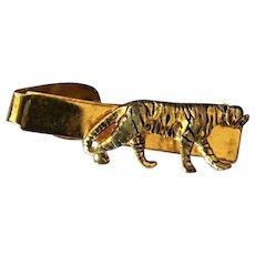 Vintage Men's Tiger Tie Clip Signed Kinney Co. Providence Rhode Island