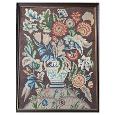 Hand made Stitched Needlework Picture authenticated by Eileen Fay Hoffman April 1943