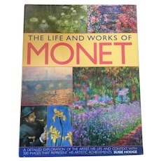 "Hardcover Art Textbook "" Life & Works Of Monet"" By Susie Hodge"