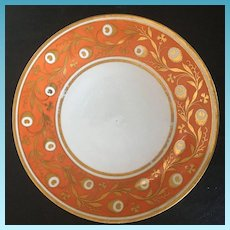 19th Century English Chamberlain Worcester Charger Plate Number 508