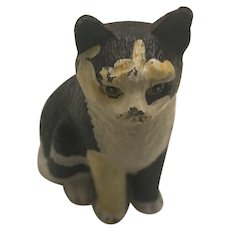 Aileen Hand Painted on Pewter Signed Classical Cat By Martin Leman Circa 1980's