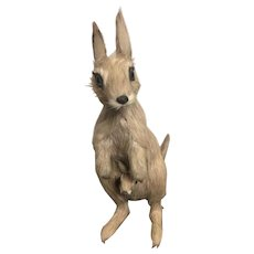 Vintage  Zoo Toy Miniature Marsupial Kangaroo Circa 1960