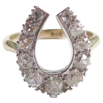 Victorian Horseshoe Diamond Ring