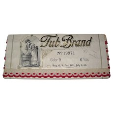 """Fabulous Antique 1909 """"Tub Brand"""" Old Store Stock 6 Yds. Embroidered Trim Unused & Never Opened"""