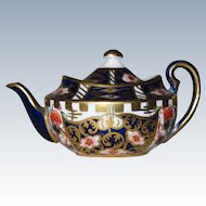PERFECT Vintage Miniature Royal Crown Derby Teapot #622 Imari Pattern