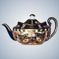 PERFECT Vintage Miniature Royal Crown Derby Teapot #622 Imari Pattern