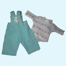Sweet Tagged 1956 Vintage Vogue Ginny Doll Overalls Set #6029 Gym Kids Series