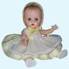 Lovely 1950's Vogue Ginnette Doll Adorable Tagged Dress