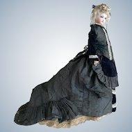 "16"" All Original 1870-80's Antique Jumeau French Fashion Doll Size 2"