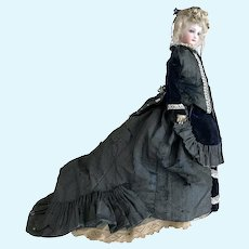 "Fabulous ALL ORIGINAL 16"" 1880's Jumeau French Fashion Doll Lady Poupee Doll Size 2 LOVELY!"