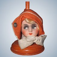 LOVELY Art Deco 1920's Vintage German Doll Head Hat Stand