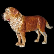 "Vintage Miniature Painted Metal Dog 3 1/2"" x 2 1/4"" NICE"
