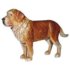"""Vintage Miniature Painted Metal Dog 3 1/2"""" x 2 1/4"""" NICE"""