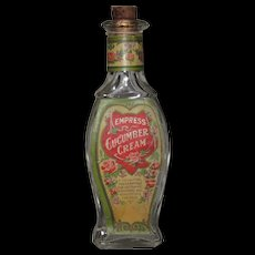 Vintage Scent Bottle Empress Cucumber Cream Great Graphic Labels