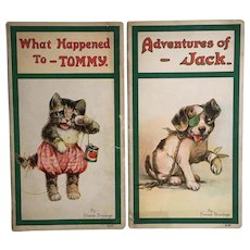2 Frances Brundage Children's Books What Happened To Tommy & Adventures of Jack 1921
