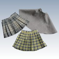 Nice Set of 3 Vintage 1950's Doll Skirts Great Condition