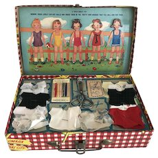 Adorable 1941 Vintage Child's Little Traveler's Sewing Kit  Transogram Co., Inc. Never Used