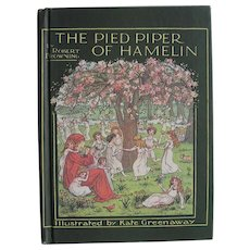 Children's Book The Pied Piper of Hamelin Robert Browning Illustrations by Kate Greenaway