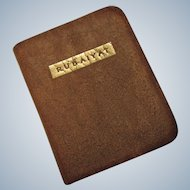 "Vintage Miniature Leather Book ""Rubaiyat"" 2-3/4"" x 2-1/4"""
