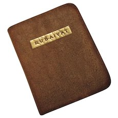 "Vintage Miniature Leather Book ""Rubaiyat"" 2-3/4"" x 2-1/4"""
