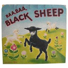 Vintage 1930's Baa,Baa Black Sheep Pop-up Book Nursery Rhyme by Geraldine Clyne NY