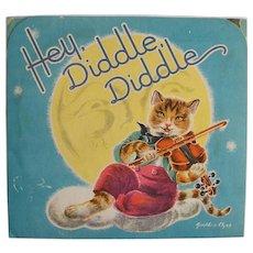 Vintage 1930's Hey, Diddle, Diddle Pop-up Book Nursery Rhyme by Geraldine Clyne NY