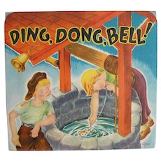 "Vintage 1930's ""Ding, Dong,Bell!"" Pop-up Book Nursery Rhyme by Geraldine Clyne NY"