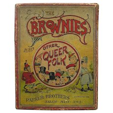 """1894 Card Game """"The Brownies and Other Queer Folk"""" by Parker Brothers"""