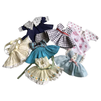 Lot of 1950's Tagged Vintage Vogue Ginny Doll Dresses