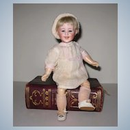 "9"" Antique German Gebruder Heubach Character Doll Laughing Boy Glass Eyes"