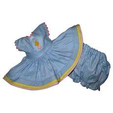 NEAR MINTY 1952 Tagged Strung Vogue Ginny Doll Dress CONNIE #25 Kindergarten Series