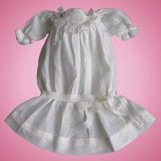 Lovely Antique Drop Waist Doll Dress Ca. 1900