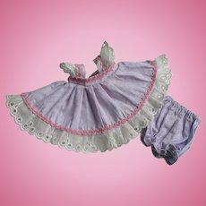 LOVELY Tagged 1953 Strung Vogue Ginny Doll Dress NAN  #32 Tiny Miss Series