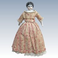 "7 3/4"" Antique Marked German China Doll Original Clothes"