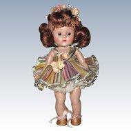 FAB! 1953 Strung Vintage Vogue Ginny Doll Rainbow Ballerina #45 Gadabout Series