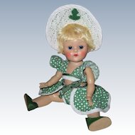 Fabulous 1952 Strung Vintage Vogue Ginny Doll Beach Sports Series High Color