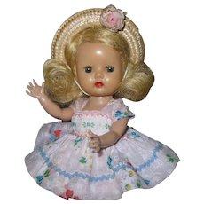 1954 Vintage Nancy Ann Muffie Doll #502-2 Gay Cotton Prints NO BROWS
