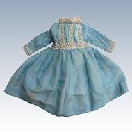 Antique Doll Dress w/ Lace Trim NICE!