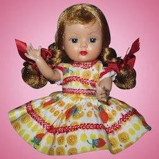 Minty 1956 Vintage Hard Plastic BKW Nancy Ann Muffie Doll #505-4 Gay Cotton Prints