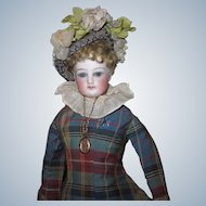 "12"" 1880's Early FG French Fashion Doll Lady Poupee Doll Factory Costume Size 0"