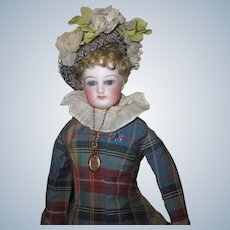 """12"""" 1880's Early FG French Fashion Doll Lady Poupee Doll Factory Costume Size 0"""