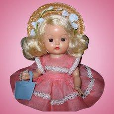 Beautiful Platinum Blonde 1955 SLW Nancy Ann Muffie Doll #701-3 Dress Up Styles