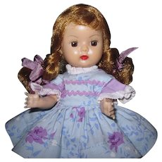 Beautiful Blonde 1955 SLW Nancy Ann Muffie Doll #603-4 Favorite Fashions
