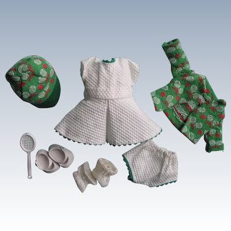Tagged 1954 Vintage Vogue Ginny Doll Dress Set Tennis #46 For Fun Time Series