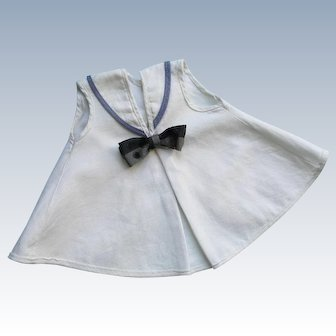 Adorable  Vintage 1950's Factory Original Nautical Toddler Doll Dress