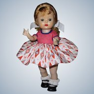 1955 SLW Nancy Ann Muffie Doll #504-3 Gay Cotton Prints