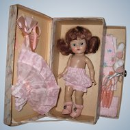 Fabulous 1952 Strung Vintage Vogue Ginny Doll Fitted Fiber Case #822