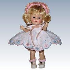 "Lovely 1952 Strung Vintage Vogue Ginny Doll ""Becky"" #62 Debutante Series"