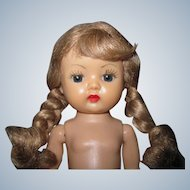 Sweet 1955 MLW Vintage Nancy Ann Muffie Doll Ash Blonde Braids