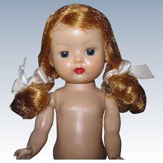 Sweet 1955 MLW Vintage Nancy Ann Muffie Doll Strawberry Blonde Braids